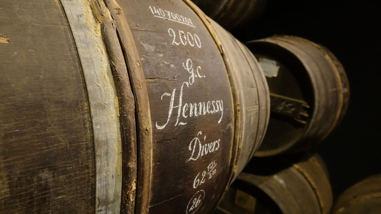 Vieillissement du cognac Hennessy