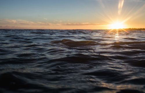 Coucher de soleil sur l'Océan, à Ars-en-Ré