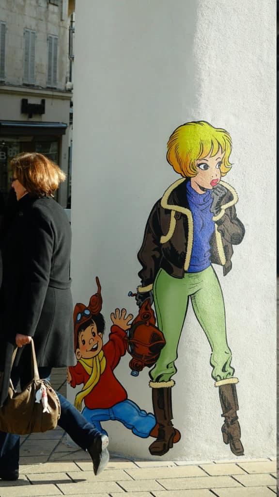 Angouleme - mur peint