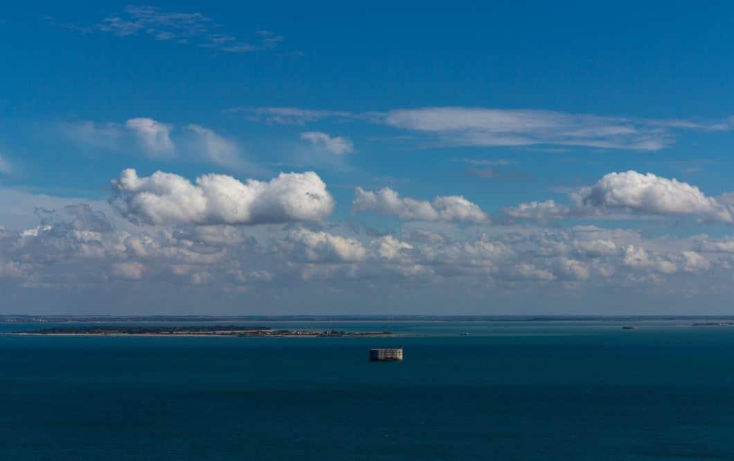 Fort Boyard - vue du ciel