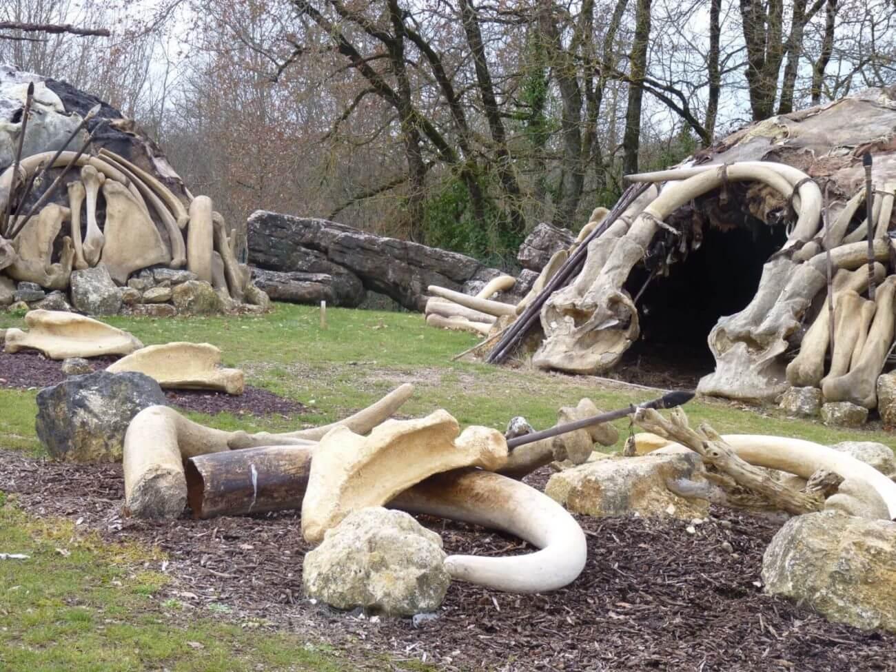 Cimetière des Mamouths au Paléosite à Saint-Césaire