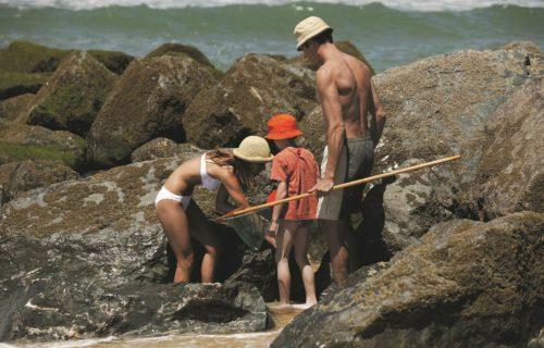 Pêche a pied en famille en charentes