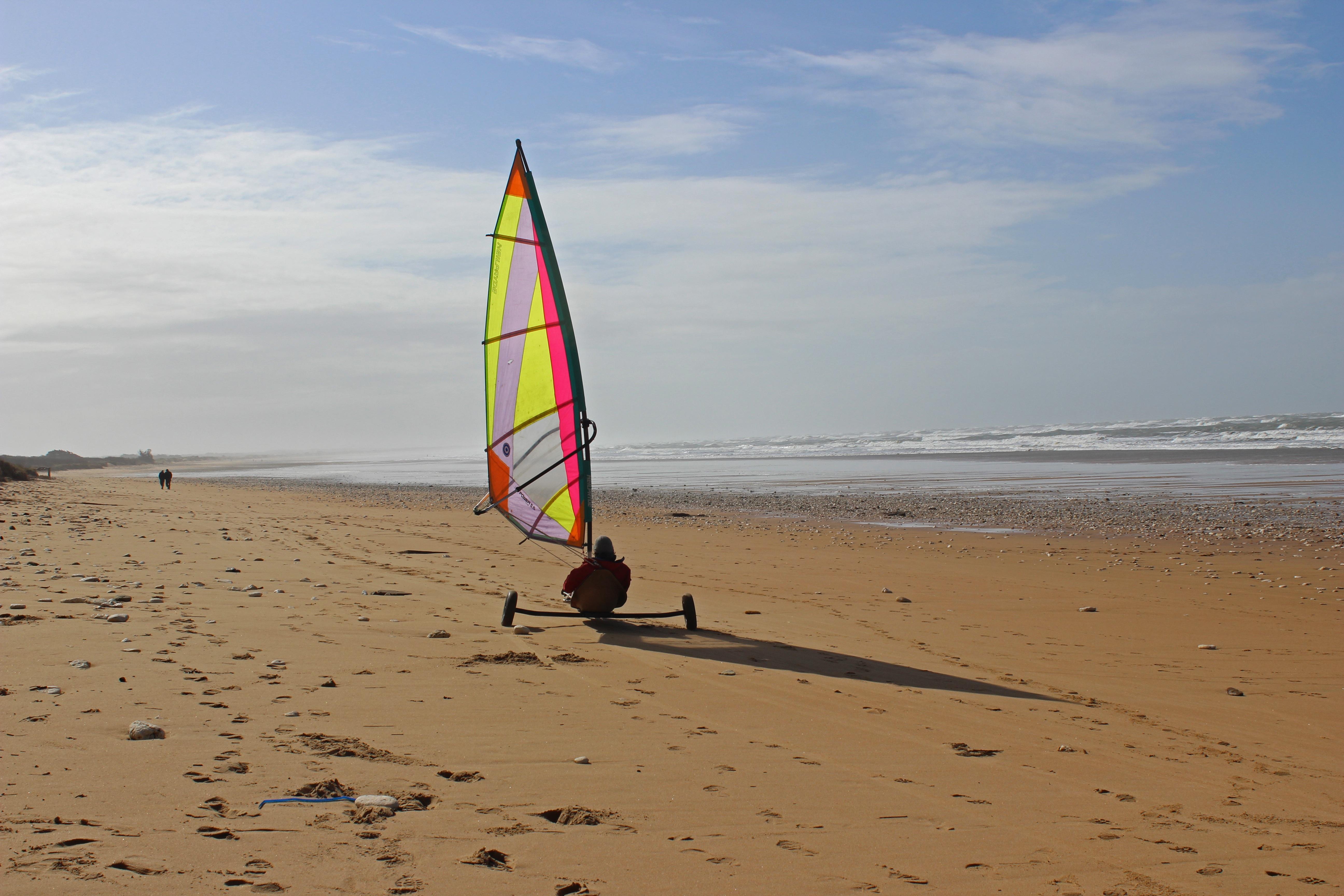 yachting sur la plage