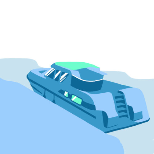 Illustration d'un house boat