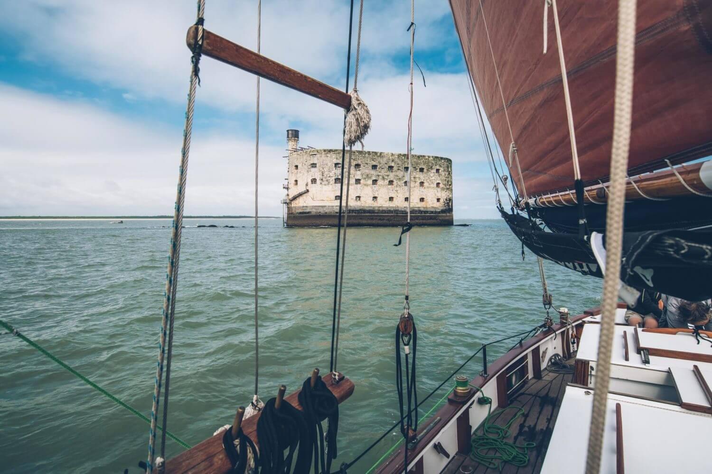 En Catamaran vers le Fort Boyard, avec Elisa et Max