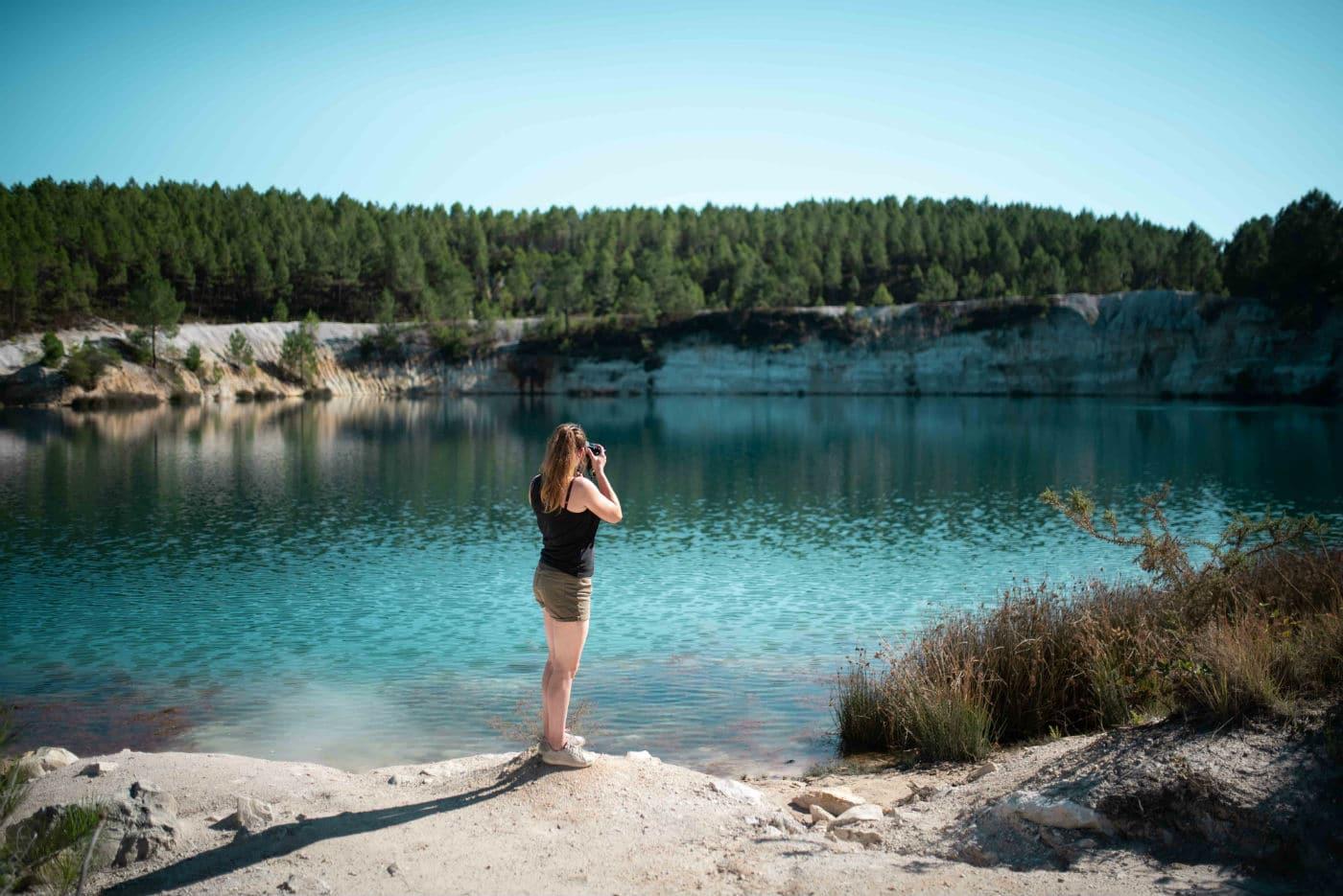 au bord du lac de Guizengeard