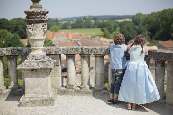 Vue sur la campagne depuis le Château de la Rochefoucauld