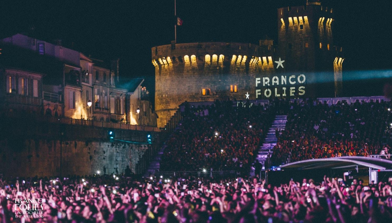 Les francofolies, festival de musique sur le port de La Rochelle