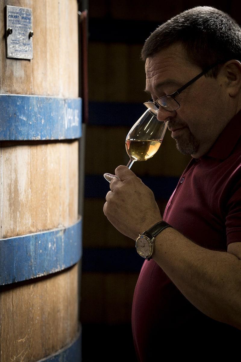 dégustation de vin à la caves Jules Gautret