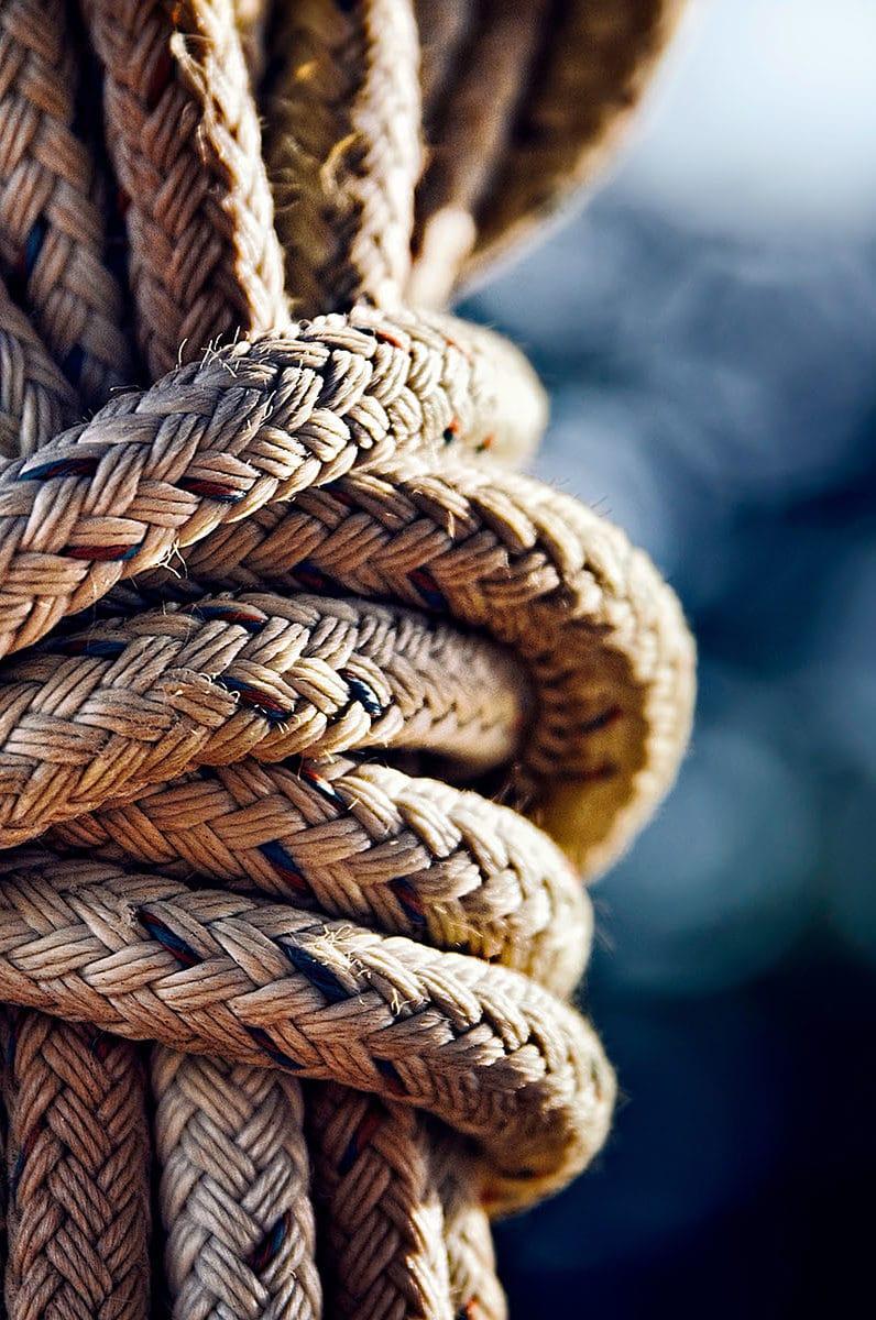corde sur un port de La Rochelle