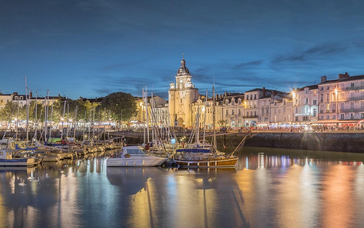 Le Vieux Port de La Rochelle la nuit