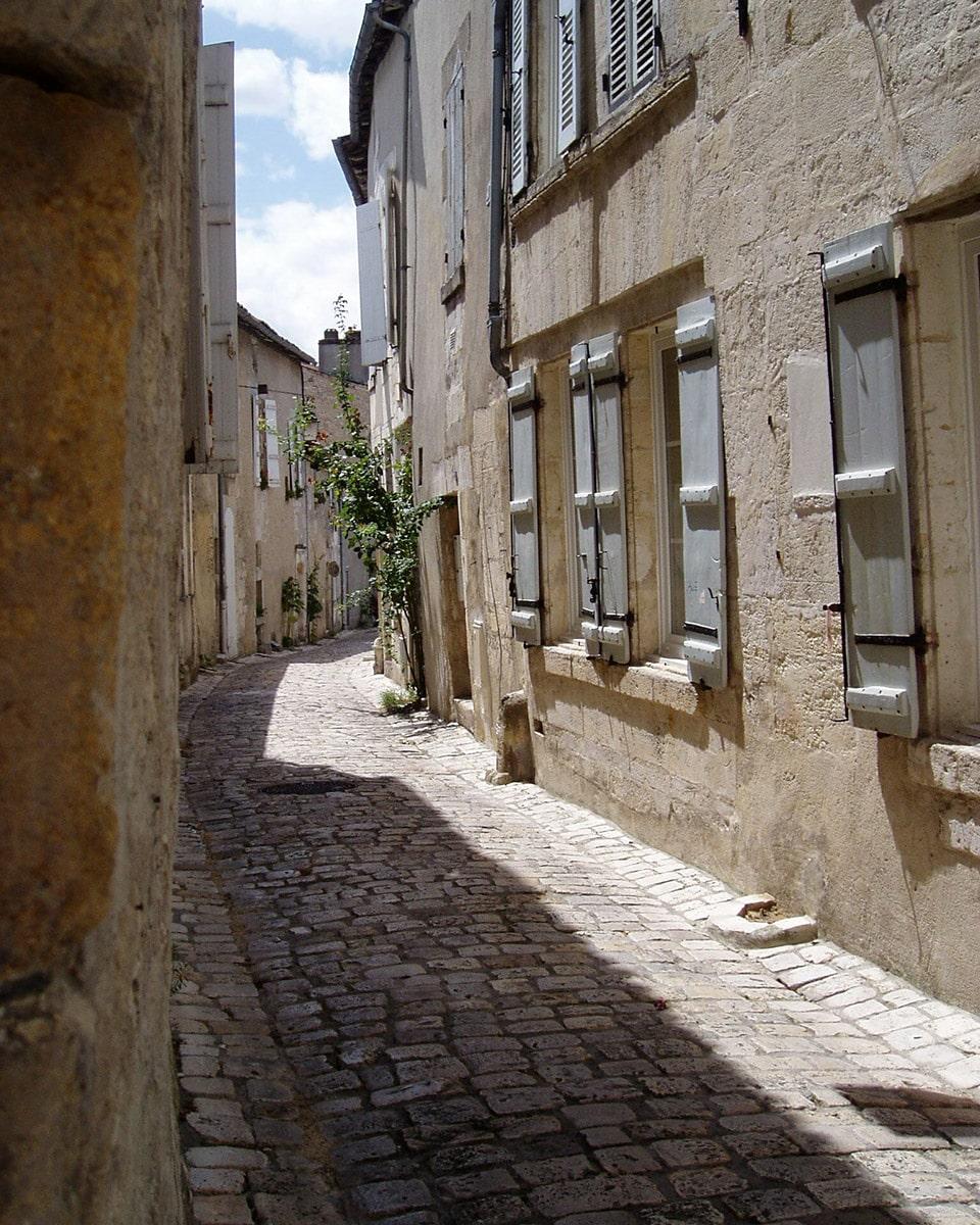 ruelles de la vieille ville de Cognac