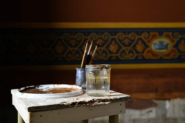 restauration des peintures de l'hôtel de ville de La Rochelle