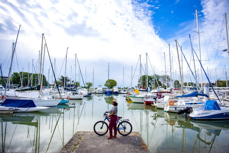 Le port de Mortagne-sur-Gironde à vélo
