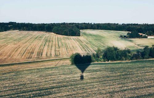 Montgolfière en amoureux
