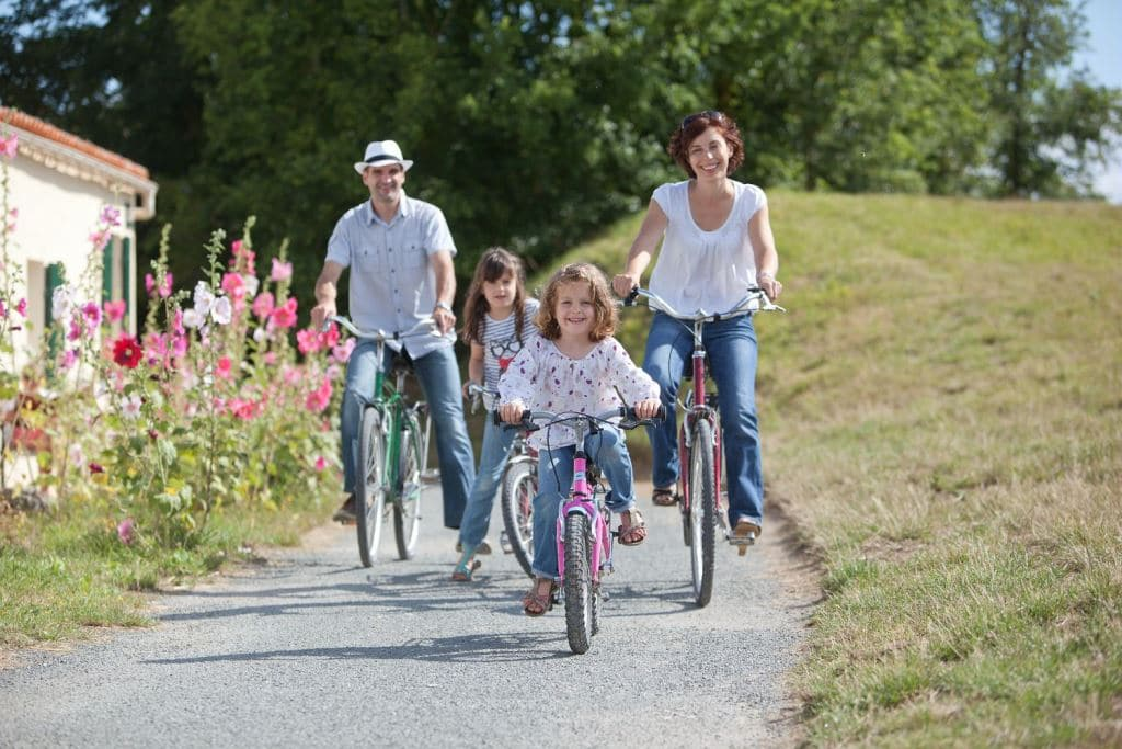 l'île d'Aix à vélo en famille