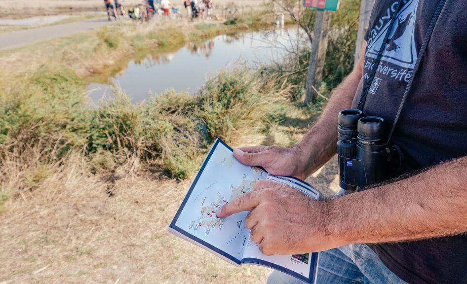 visite nature d'un site protégé