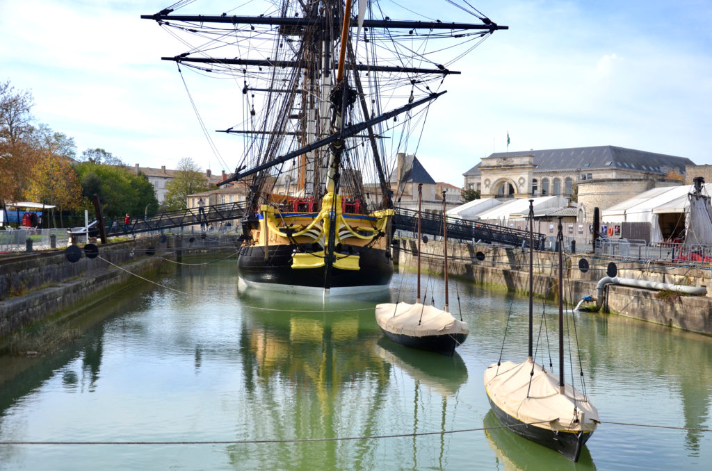 The Hermione in Rochefort port